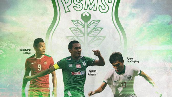 PSMS Medan - Ferdinand Sinaga, Paolo Sitanggang, Legimin Raharjo (Bola.com/Adreanus Titus)