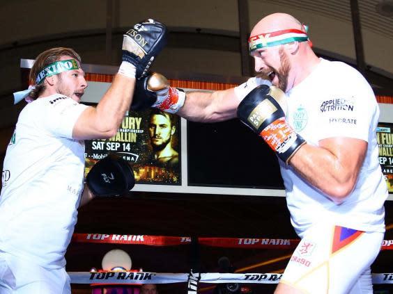 Tyson Fury takes on Otto Wallin this Saturday (PA)