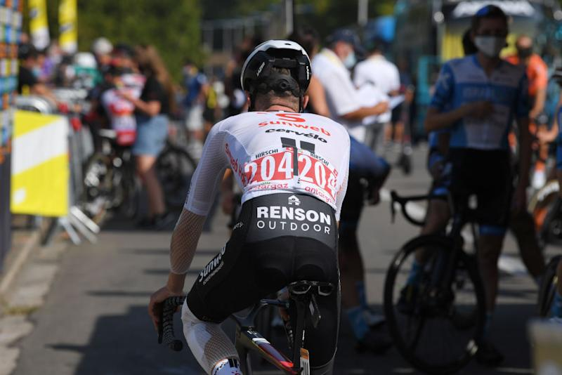 CHAMPAGNOLE FRANCE SEPTEMBER 18 Start Marc Hirschi of Switzerland and Team Sunweb Detail view during 107th Tour de France 2020 Stage 19 a 1665km stage from Bourg en Bresse to Champagnole 547m TDF2020 LeTour on September 18 2020 in Champagnole France Photo by Tim de WaeleGetty Images