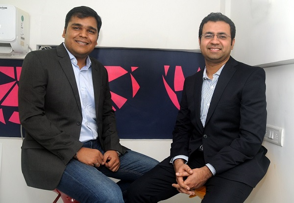 Purplle Co-founders Rahul Dash (L) and Manish Taneja