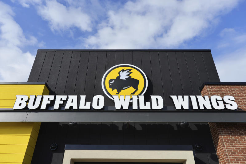 IMAGE DISTRIBUTED FOR BUFFALO WILD WINGS - A Buffalo Wild Wings restaurant in Jacksonville, Fl. (Rick Wilson/AP Images for Buffalo Wild Wings)