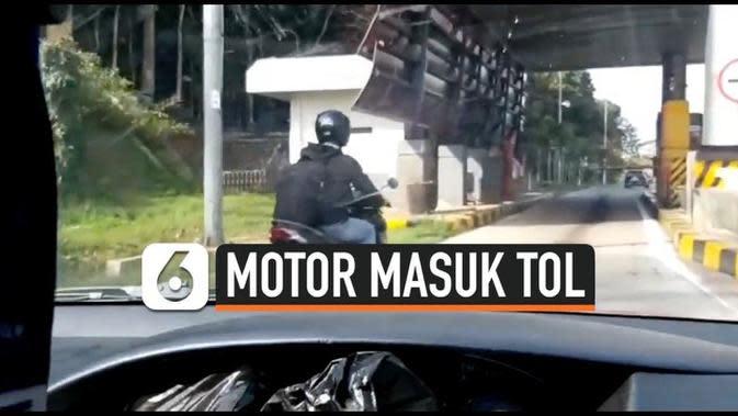 VIDEO: Mengikuti Petunjuk Google Map Pengendara Motor Masuk Pintu Tol Bawen