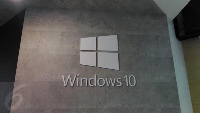 Logo Windows 10 di Booth Microsoft di Computex 2017. Liputan6.com/ Mochamad Wahyu Hidayat