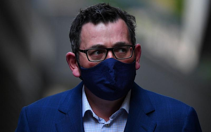 """State Premier Daniel Andrews has said they is """"literally"""" no reason for anyone to leave their home - JAMES ROSS/EPA-EFE/Shutterstock/Shutterstock"""