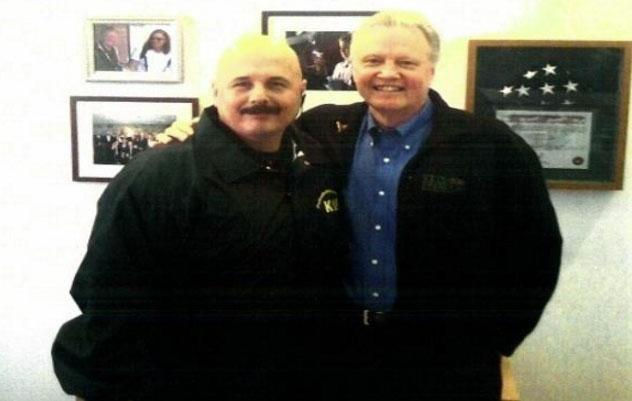 Bodyguard Kris Herzog with Angelina's father Jon Voight. Source: Kris Herzog
