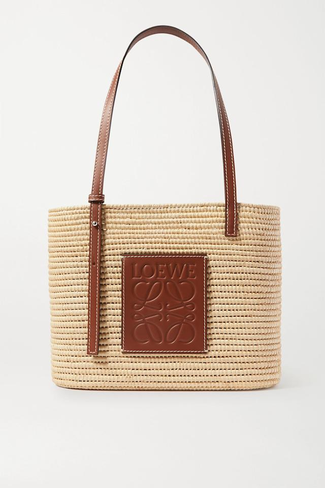 """<p><strong>Loewe</strong></p><p>net-a-porter.com</p><p><strong>$590.00</strong></p><p><a href=""""https://go.redirectingat.com?id=74968X1596630&url=https%3A%2F%2Fwww.net-a-porter.com%2Fen-us%2Fshop%2Fproduct%2Floewe%2Fpaulas-ibiza-small-leather-trimmed-woven-raffia-tote%2F1242825&sref=https%3A%2F%2Fwww.harpersbazaar.com%2Ffashion%2Fg31769694%2Fsummer-2020-bag-trends%2F"""" target=""""_blank"""">Shop Now</a></p><p>An update on a new classic.</p>"""
