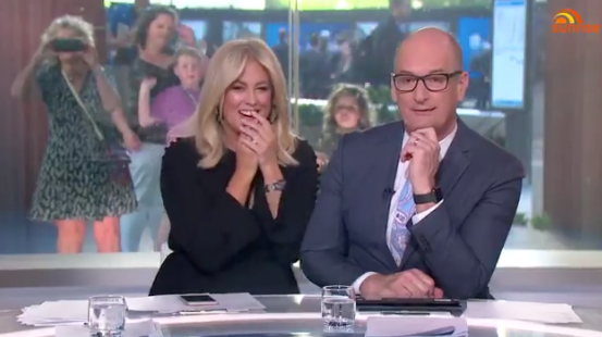 Sunrise host Samantha Armytage made a x-rated blunder on live TV on Tuesday. Photo: Channel Seven