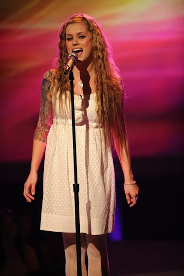 "Megan Corkrey performs ""Put Your Records On"" by Corinne Bailey Rae on ""American Idol."""