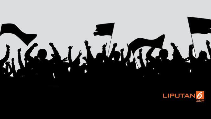 Banner Polemik Bendera Tauhid dan HTI (Liputan6.com/Triyasni)