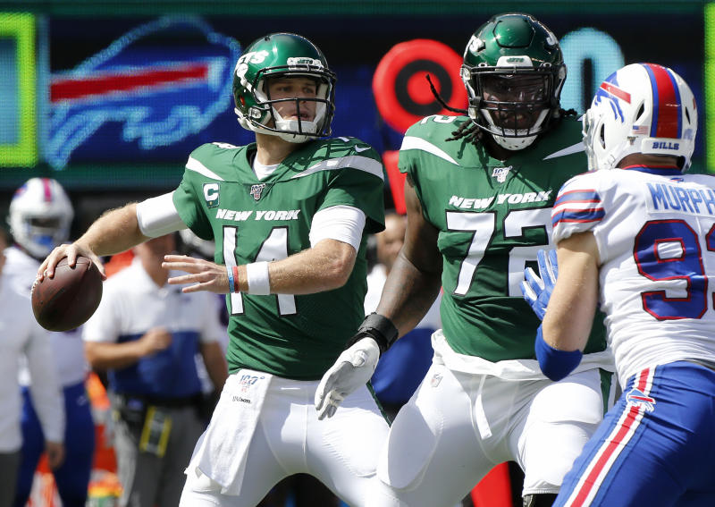 Jets quarterback Sam Darnold has a chance to return in Week 5. (Getty Images)