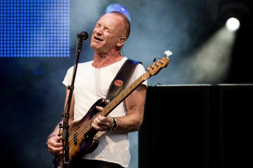 "FILE - This July 19, 2013 file photo shows British singer-songwriter Sting performing at the ""Live at Sunset Festival"" in Zurich, Switzerland. Sting's new musical ""The Last Ship"" will sail onto Broadway after a stop in Chicago. Producers said Thursday, Sept. 19, that the show _ inspired by Sting's memories growing up in a shipbuilding community in northeast England _ will appear on Broadway in the fall of 2014 once it makes its world premiere next summer at Chicago's Bank of America Theatre. (AP Photo/Keystone,Ennio Leanza, File)"