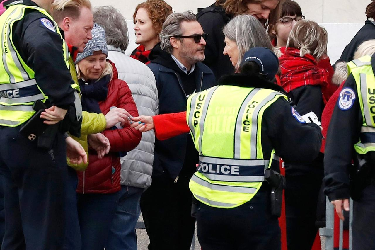"""On Jan. 10, 2020, Phoenix and Sheen became the latest celebs to be arrested at Fonda's Fire Drill Friday protest, though <a href=""""https://people.com/politics/joaquin-phoenix-martin-sheen-arrested-cilmate-change-protest/"""">both were released on-site</a>.  <a href=""""https://ew.com/celebrity/celebrities-arrested-with-jane-fonda-climate-change-protest/"""">According to EW.com</a>, a slew of celebs have faced arrest while joining Fonda in her weekly crusades since she began in October 2019. First came Ted Danson, followed by Catherine Keener, Rosanna Arquette, June Diane Raphael, Marg Helgenberger, Piper Perabo, Amber Valletta, Diane Lane, Paul Scheer, Sally Field and Lily Tomlin."""