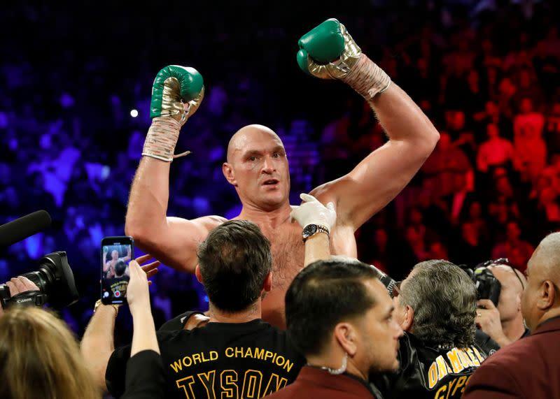 FILE PHOTO: Deontay Wilder v Tyson Fury - WBC Heavyweight Title
