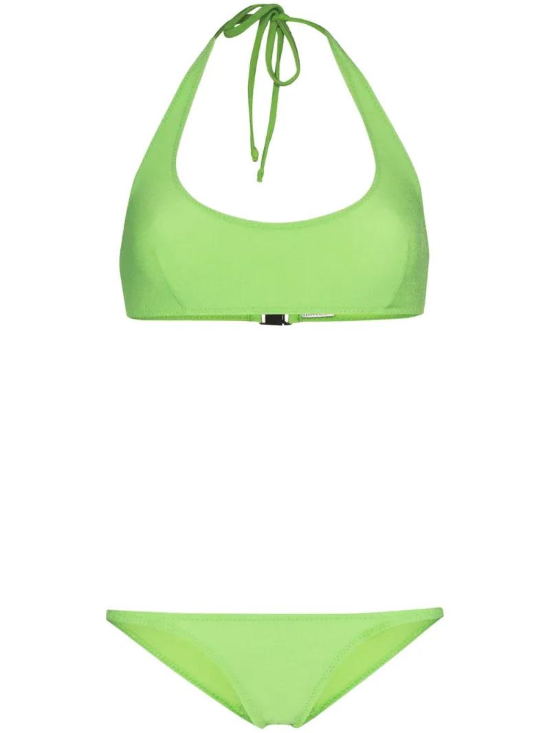 Lisa Marie Fernandez Amber Crêpe Halter Bikini