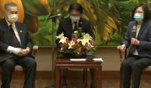 快新聞/接見日本前首相森喜朗 蔡英文讚:他是一位「人情家」