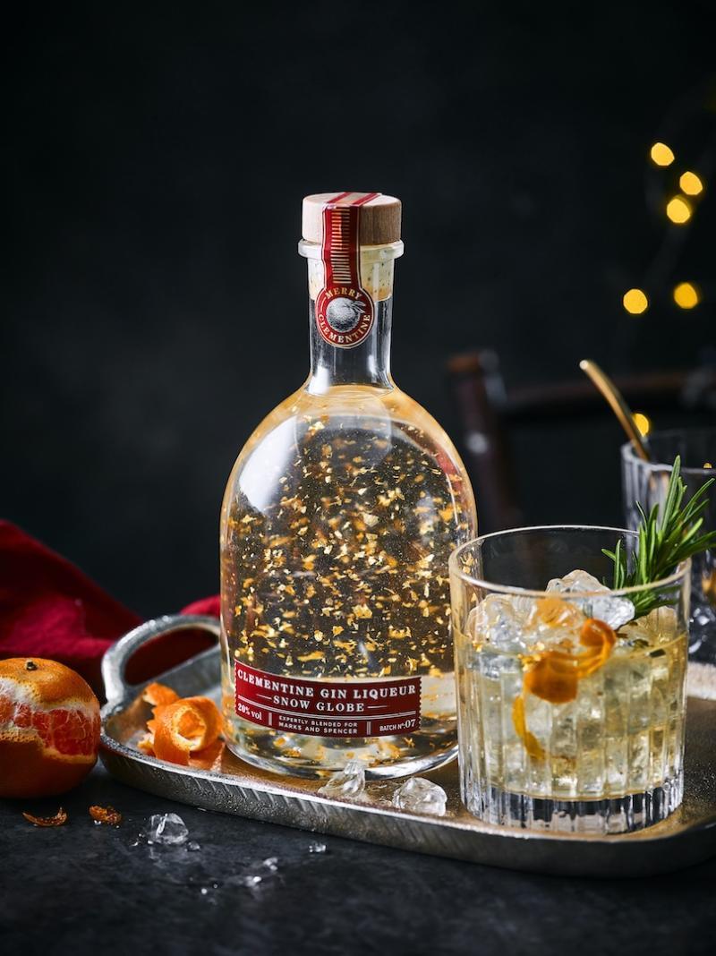 Clementine Gin Liqueur Snow Globe, £15 [Photo: M&S]