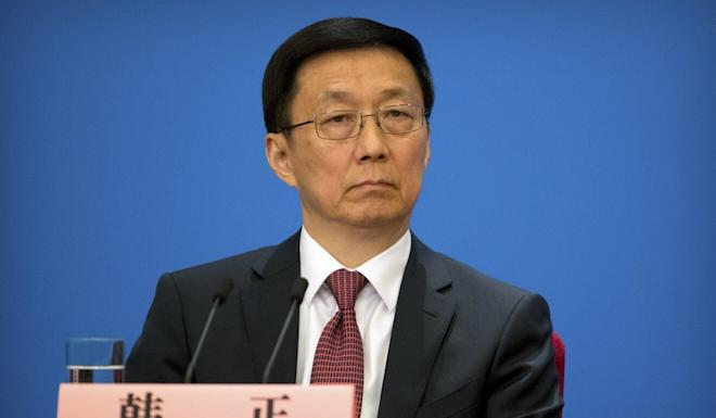 Vice-Premier Han Zheng is the state leader in charge of Hong Kong affairs. Photo: AP