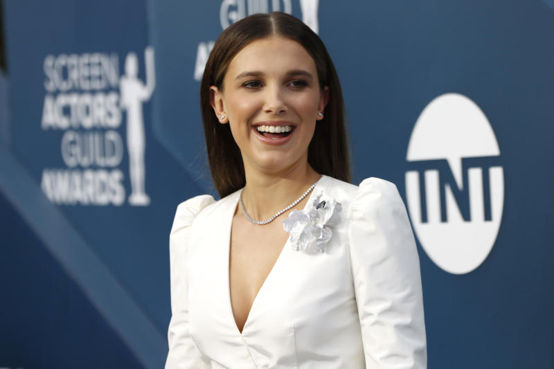 26th Screen Actors Guild Awards - Arrivals - Los Angeles, California, U.S., January 19, 2020 - Millie Bobby Brown. REUTERS/Mario Anzuoni