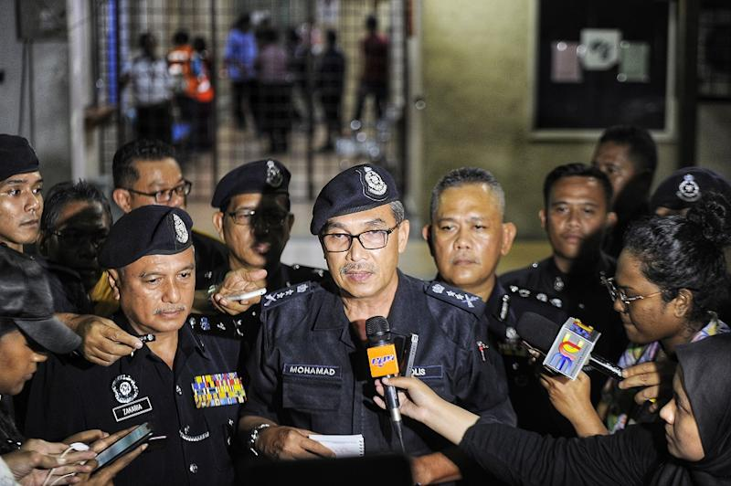 Negeri Sembilan Police Chief Mohamad Mat Yusop addresses the media at the Seremban hospital August 13, 2019. — Picture by Shafwan Zaidon