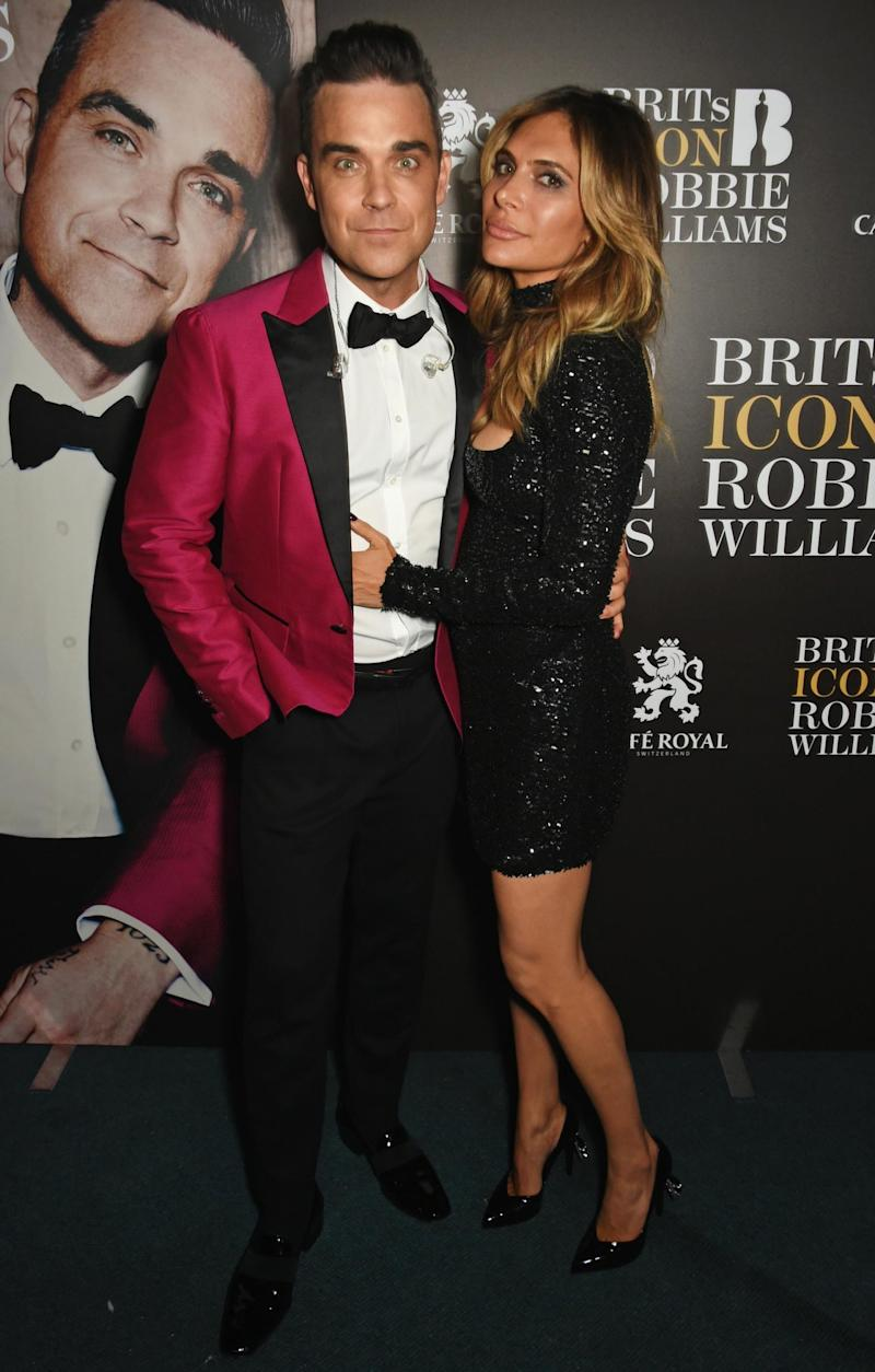 Robbie and Ayda shared the news on Valentine's Day (Dave Benett)