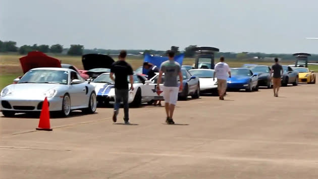 See the country's fastest street cars hit 200 mph in a Texas-sized showdown
