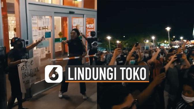 VIDEO: Aksi Terpuji Demonstran AS Lindungi Toko dari Penjarahan