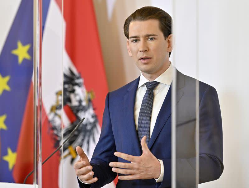 Austria's Kurz aims to lift border controls to Switzerland by June