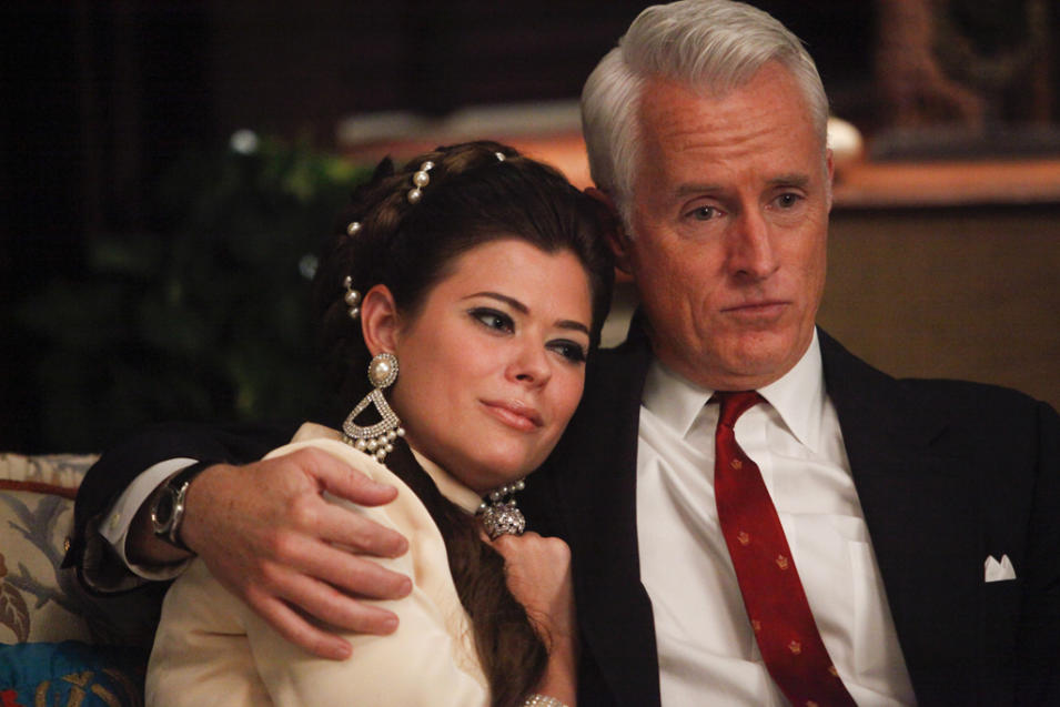 Jane Sterling (Peyton List) and Roger Sterling (John Slattery)