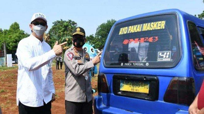 Gugah Hati Masyarakat, Kampanye Pakai Masker Sasar Kendaraan Umum