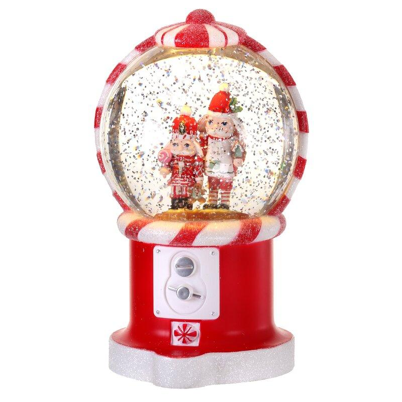 LED Nutcracker Gumball Water Globe. Image via Wayfair.