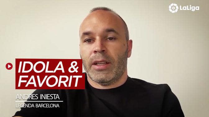 VIDEO: Dua Pemain Idola dan 5 Gelandang Favorit Legenda Barcelona, Andres Iniesta di La Liga