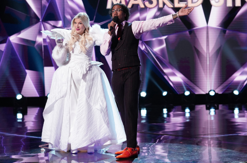 The US version of The Masked Singer featured contestants like Tori Spelling. Photo: Fox