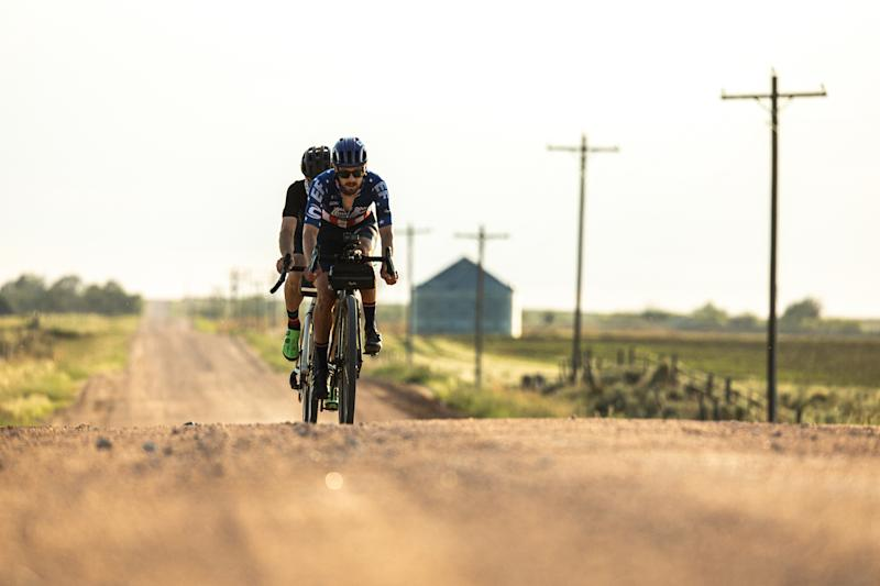 The ride was mainly off-road, taking on long, straight sections of Colorado gravel farm tracks