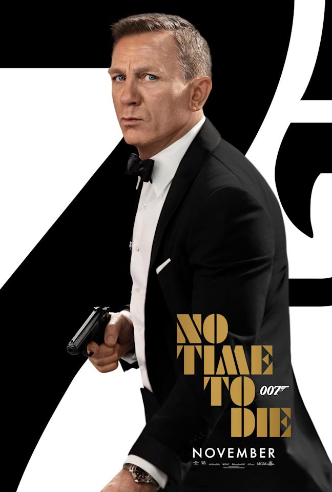 Daniel Craig dons Bond's classic tux and wields his Walther PPK for this classy poster. (Universal/MGM/Eon)