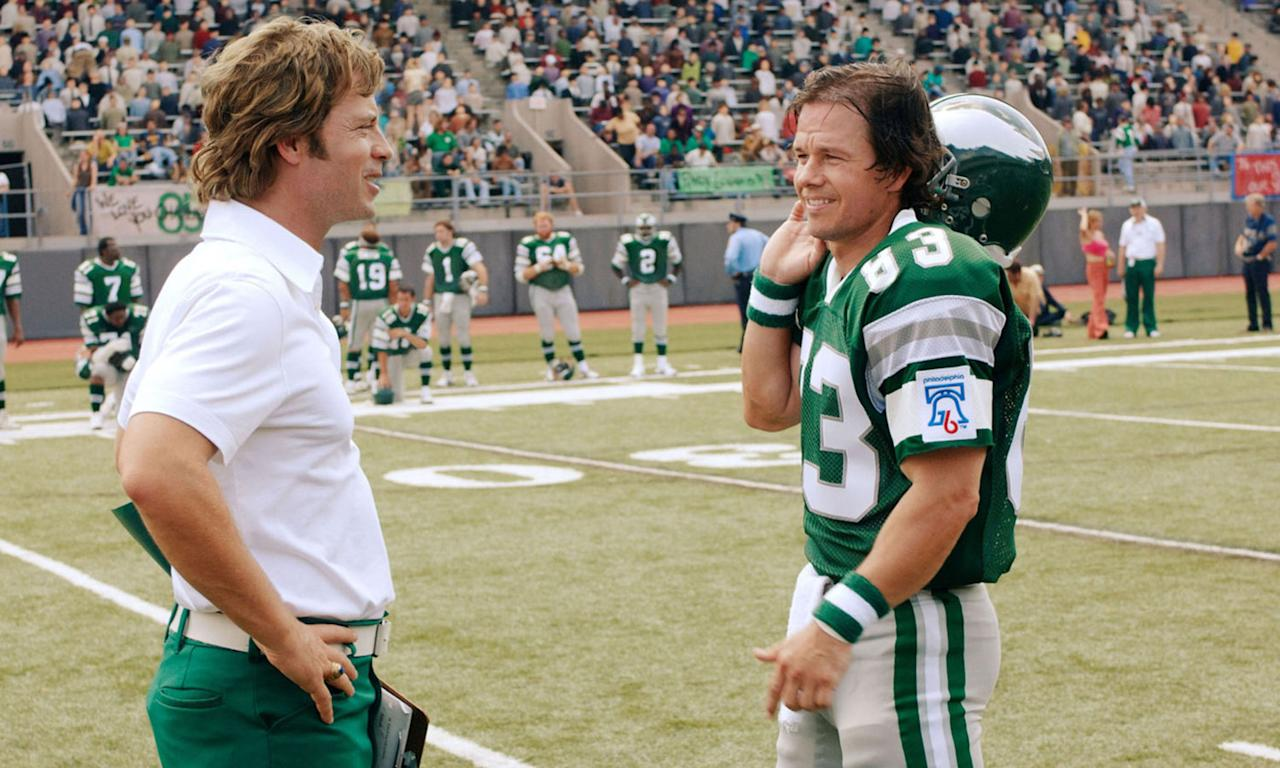 <p><b>Synopsis:</b> Lifelong football fan Vince Papale (Mark Wahlberg) sees his wildest dreams come true when he becomes a member of the Philadelphia Eagles. While teaching at his high-school alma mater in Pennsylvania, the 30-year-old gets a chance to try out for his favourite team and, except for kickers, becomes the oldest rookie in NFL history who never played football in college. </p>