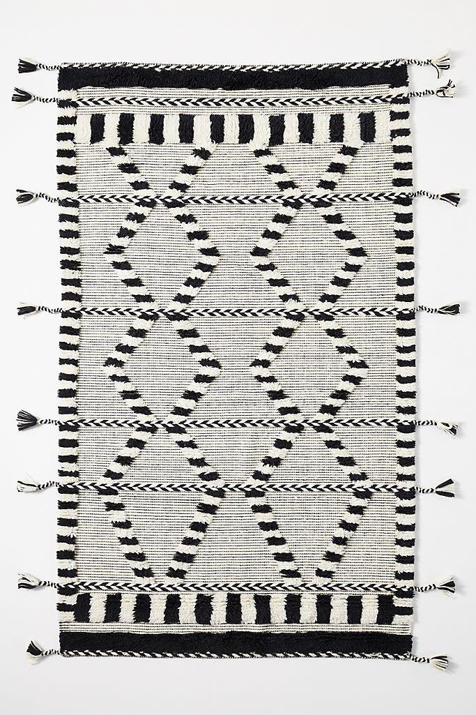 Criss-Cross Flat-Woven Rug (Anthropologie)