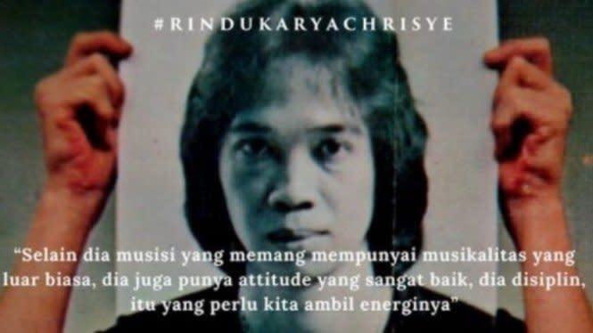 28 Tahun Disimpan, Chrisye 'Dihidupkan' untuk Single Rindu Ini