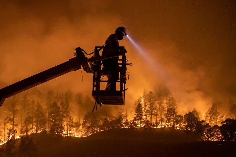 Napa Valley wineries menaced by wildfire, as second California blaze kills three