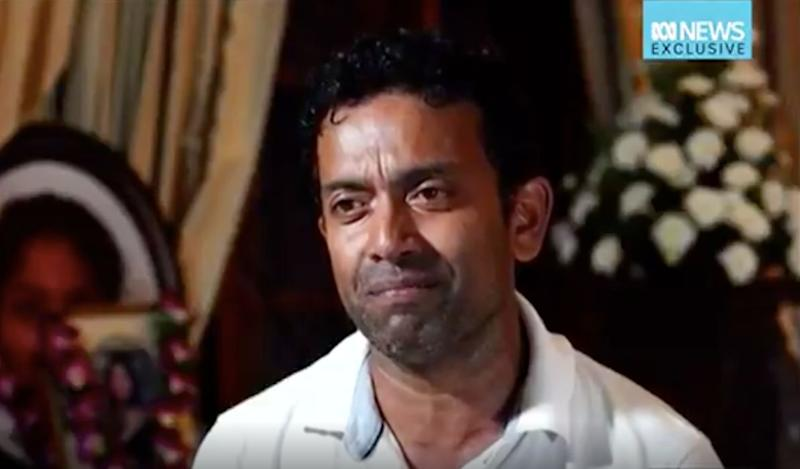 Sudesh Kolonne has spoken of his pain following the death of his wife and daughter. Source: ABC News