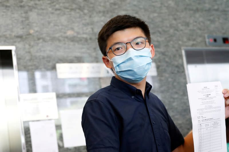 Joshua Wong and other Hong Kong activists charged over banned June 4 vigil