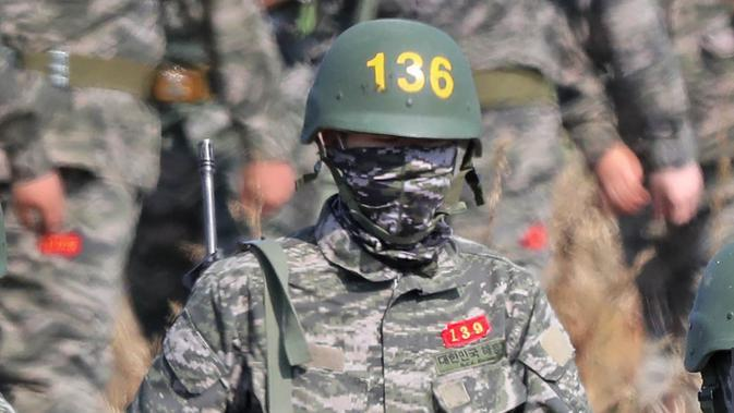 Wajib militer Korea Selatan. (AFP/STR)