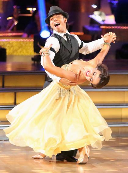 Apolo Anton Ohno and Karina Smirnoff (10/1/12)