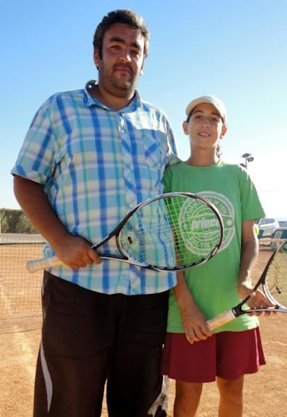 As a 14-year-old in Algiers Ines Ibbou, with coach Zine-el-Abidine Midoun, had to work with very little