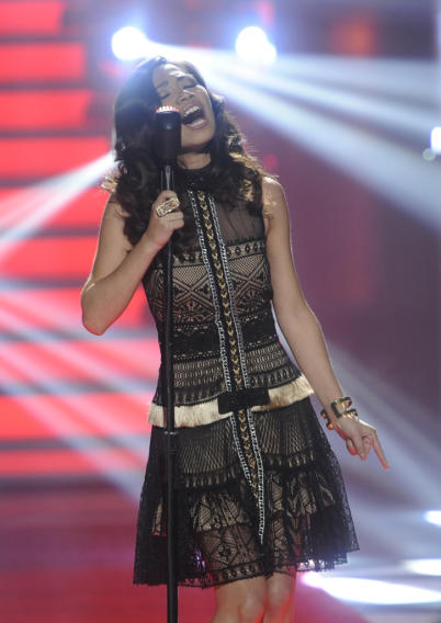 "Jessica Sanchez performs ""Everybody Has a Dream"" by Billy Joel on ""American Idol."""