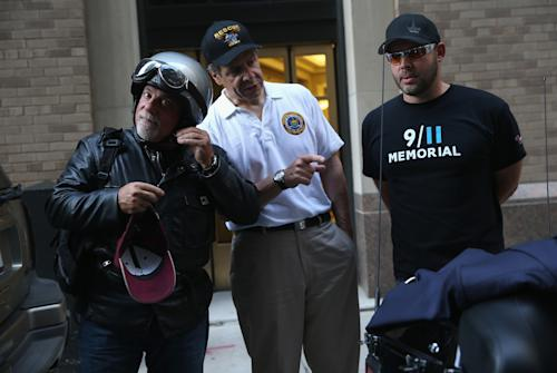 Billy Joel Joins Gov. Andrew Cuomo in Motorcycle Parade to 9/11 Memorial