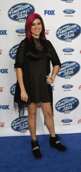 "Meuse poses at the party for the finalists of ""American Idol XIII"" in West Hollywood"