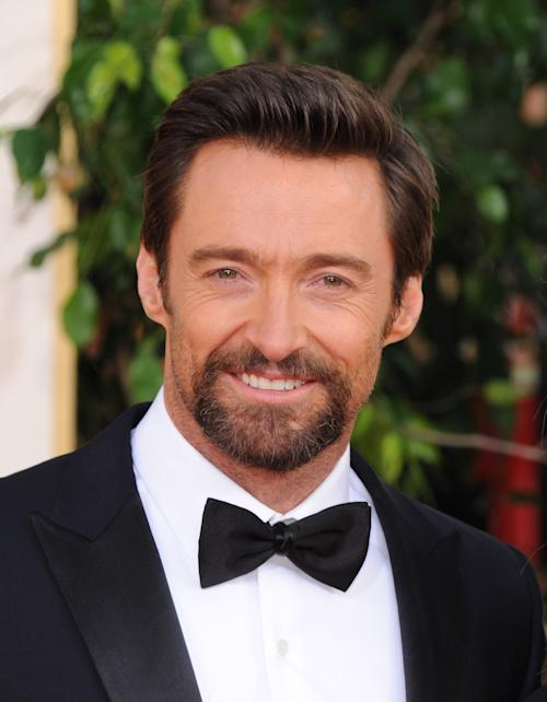 Actor Hugh Jackman arrives at the 70th Annual Golden Globe Awards at the Beverly Hilton Hotel on Sunday Jan. 13, 2013, in Beverly Hills, Calif. (Photo by Jordan Strauss/Invision/AP)