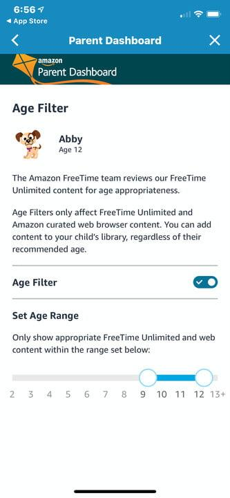 amazon echo dot vs kids edition parent dashboard age filter