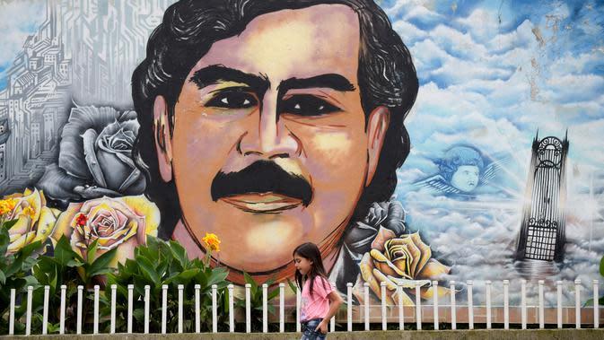 Mural Pablo Emilio Escobar Gaviria (AFP Photo/Raul Arboleda)