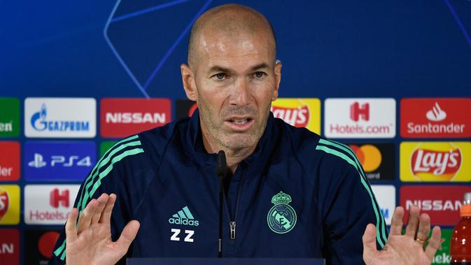 Pelatih Real Madrid, Zinedine Zidane. (AFP/PIERRE-PHILIPPE MARCOU)